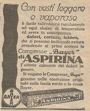 W1279 Compresse Bayer di ASPIRINA - Pubblicità 1926 - Vintage Advert
