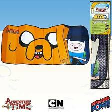 Adventure Time Finn Driving Sunshade - Car Window Sun Shade Auto Windscreen