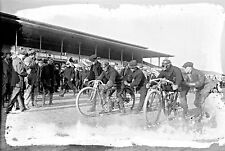 "1915 Motor Cycle Race, 19""x13"" old photo, bike, Racing, Laurel, Maryland"