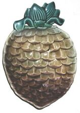 """OLD ~ FOOTED ~ MAJOLICA """"PINEAPPLE BOWL"""" ... LARGE"""