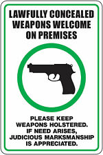 Concealed Weapons Guns Welcome Sticker Decal High Quality MADE IN USA