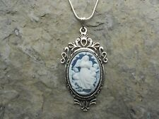 GUARDIAN ANGEL W/ CHILDREN/BABIES CAMEO NECKLACE--925 PLATE CHAIN- QUALITY