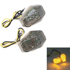 Universal Motorcycle Scooter Flush Mount LED Turn Signals Light Flasher 2 Wires