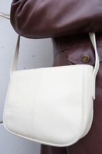 SAc bag besace TEXIER CUIR Leather Blanc Bandouliere epaule POCHETTE purse TBE