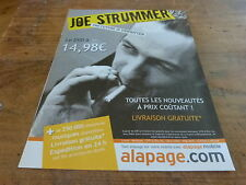 JOE STRUMMER - ALAPAGE!!!!!!!!!!!!!!FRENCH PRESS ADVERT