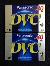 2 New Sealed Panasonic DVC Mini DV Digital Video Cassette SP 80min LP 120min