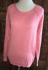 Old Navy Women's Long-Sleeve Crewneck Sweater. Size =XS.  Coral Colored Overall.