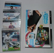 Sony PS3 Spiele - Sims, Fifa 15, Fifa 13 , PES 2013, uDraw - 5teilig mit OVP