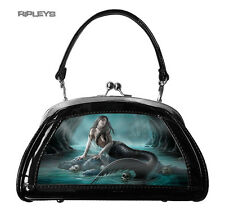 ANNE STOKES 3D Evening Clutch Hand Bag Black PVC Goth Mermaid 'Serpents Lamont'