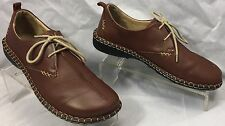 JOSEF SEIBEL Brown Lace-up Comfort Walking Moccasins Oxfords womens 38 7.5