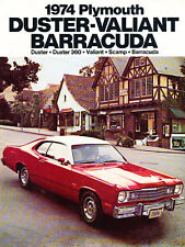 1974 Plymouth Duster Barracuda Cuda Car Sales Brochure Catalog