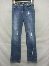 D3067 Bebe USA Made Stretch Cool Jeans Women 26x33