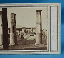 1860s Italy Stereoview Photo Temple Of Venus Pompeii Early Manuscript Title
