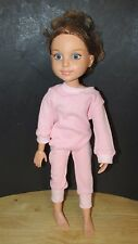 "2009 MGA Best Friends Club 18"" Doll jointed Brown Blue Green Eyes Addison in pjs"