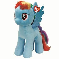 "Large My Little Pony Rainbow Dash Plush Soft Toy - 16"" Official TY Blue Wings"