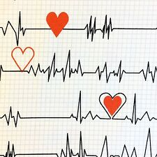 WI86 Heart Rate Nurse Doctor Hospital Monitor Graph Scrubs Cotton Quilt Fabric