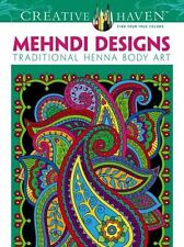 Dover Creative Haven Mehndi Designs Coloring Book Adult Coloring