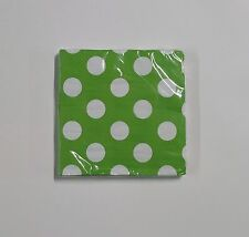 """Polka Dot Party Napkins Paper 13""""x13"""" 2 Ply 16 Count Lunch Napkins -U Pick Color"""