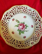 Antique/Vintage BAVARIA Schumann Arzberg Germany Rose Pierced Plate