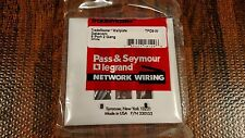 Pass Seymour White Wall Face Plate 9 Port TPD9-W Legrand CAT5 Keystone 2 Gang