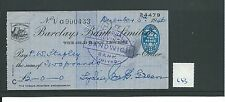 Recuento de leucocitos. - Cheque-CH663 usado -1946 - Barclays, Lewes