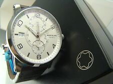 """*NEW* $8300 MSRP 109134 MONTBLANC TIMEWALKER """"TWIN FLY"""" RARE CHRONO, BRAND NEW!"""