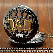 Top Item Retro DAD Pocket Watch Necklace Pendant Womens Mens Dad Father Day Gift