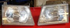 03 04 05 06 FORD E150 E250 E350 E450 OEM HEADLIGHTS HEAD LAMPS LENS BOTH SIDES !