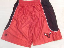 6930 NBA Majestic Team Apparel CHICAGO BULLS Basketball Jersey Shorts RED LARGE