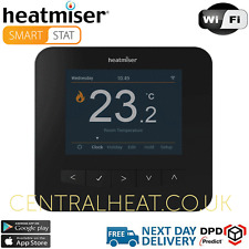 Heatmiser SmartStat Wifi Programmable Room Thermostat - Sapphire Black