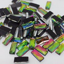 1000pcs 3x7mm DMC Vitrail 9Facet Rectangle Iron On Hotfix Crystal Rhinestones
