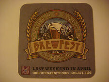 Beer Coaster ~ OREGON Garden Brewfest ~ Silverton, OR ~ Handcrafted Beers, Music