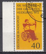 BRD 1972 MER. n. 733 timbrato con BORDO LUSSO!!! (21559)