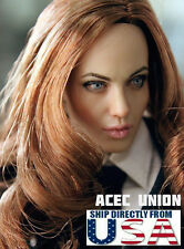 1/6 Angelina Jolie Mrs. Smith Head Sculpt For Hot Toys Phicen - U.S.A. SELLER