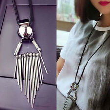 Fashion Women Tassel Statement Long Necklace Chain Bohemia Style Pendant Jewelry
