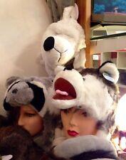 Berretto peluche animali orso , coniglio , tasso ..................