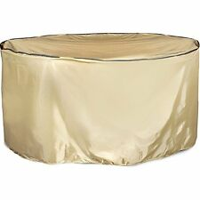 Abba Patio Outdoor/Porch Round Table and Chair Set Cover, Water-repellent and Fi