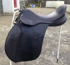 "Lovatt & Ricketts 17"" G/P Black English leather Saddle D-D 9"" med fit"