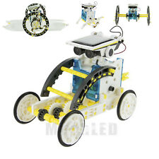 14 in1 Building Block Assembly Solar Powered Car Robot Boat Teaching Kit Toy Kid