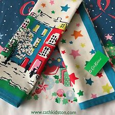 Genuine CATH KIDSTON Town Houses Merry Christmas Tea Towel - NEW with Tag
