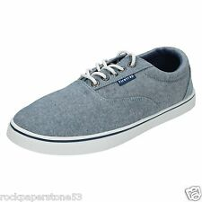 Mens Firetrap Murphy Blue Canvas Pumps Trainers Sneakers UK 12/Euro 46 RRP £40
