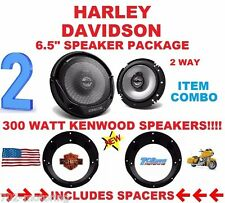 HARLEY TOURING KENWOOD SPEAKER PACKAGE & ADAPTER INSTALLATION KIT STEREO RADIO