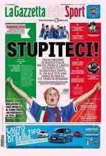 GAZZETTA DELLO SPORT 10/06/2016 TRICOLORE EUROPEI FRANCIA NAZIONALE ITALIA