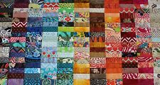 "100 Assorted 4"" Pre-cut Patchwork Charm Quilt Squares Fabric Lot"