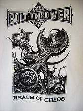 BOLT Thrower - 2014 REALM OF CHAOS Maglietta M Napalm Death Unleashed Morgoth