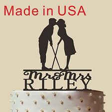 """Customized cake topper, Wedding Golf Cake Topper, wedding toppers,Made in USA 5"""""""