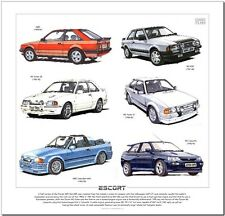 FORD ESCORT MkIII MkIV MkV  Art Print - XR3i Cabriolet RS1600i RS Turbo Cosworth