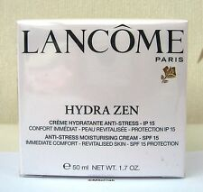LANCOME HYDRA ZEN MOISTURISER 50ML + SPF 15 - CELLOPHANE SEALED