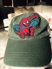 Marvel  Spiderman Hat / Cap Size S Ajustable back Olive front Khaki color back