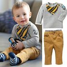 Baby Kids Boy Clothes Children Sets Outfits Shirts + Pants Clothing 1-4Y FT1000